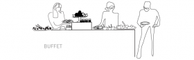 Illustration buffet